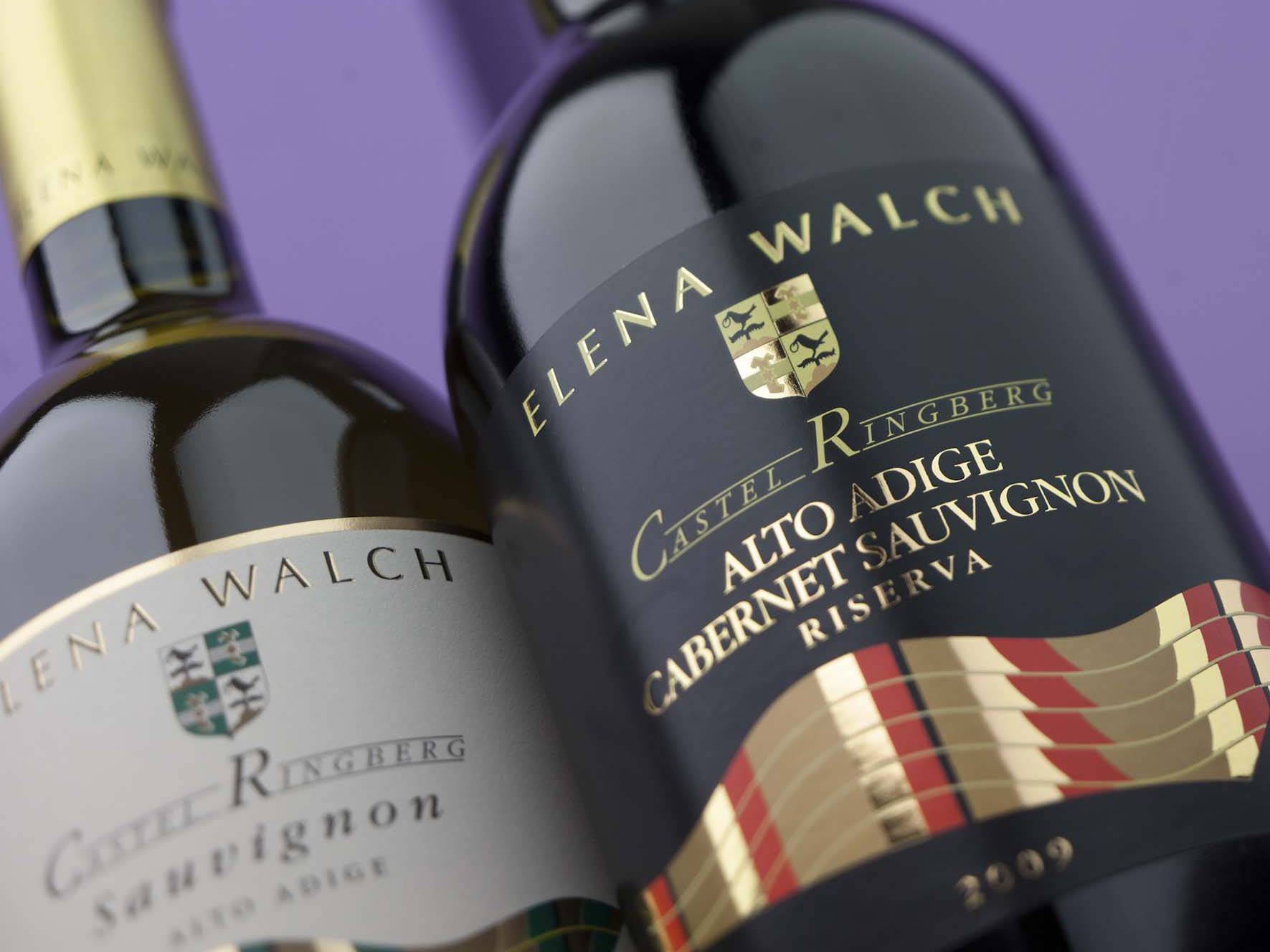 bottles of Elena Walch Sauvignon wines