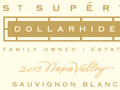 detail of 2013 Calif Sauvignon Blanc Dollarhide Estate label