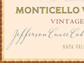 Detail of Monticello Jefferson wine label