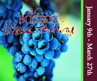 boston Wine Festival January 9 to March 27