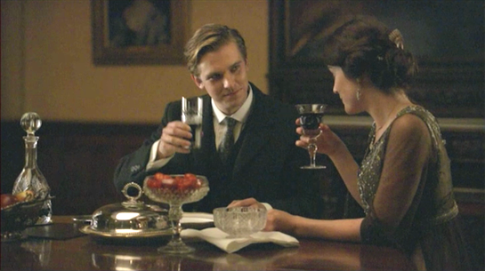 Downton Abbey - Matthew and Mary toast